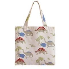 Dinosaur Art Pattern Grocery Tote Bag by BangZart