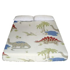 Dinosaur Art Pattern Fitted Sheet (california King Size) by BangZart