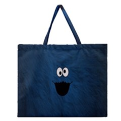 Funny Face Zipper Large Tote Bag by BangZart