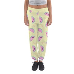 Watermelon Wallpapers  Creative Illustration And Patterns Women s Jogger Sweatpants by BangZart
