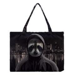Gangsta Raccoon  Medium Tote Bag by Valentinaart
