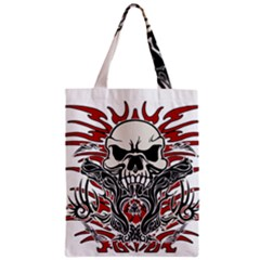 Skull Tribal Classic Tote Bag by Valentinaart