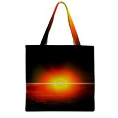 Landscape Zipper Grocery Tote Bag by Valentinaart