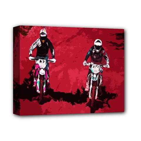 Motorsport  Deluxe Canvas 14  X 11  by Valentinaart