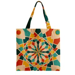 Summer Festival Zipper Grocery Tote Bag by linceazul