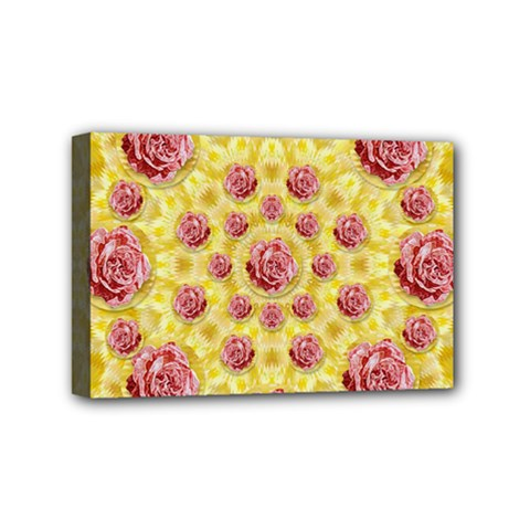 Roses And Fantasy Roses Mini Canvas 6  X 4  by pepitasart