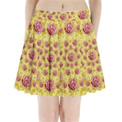 Roses And Fantasy Roses Pleated Mini Skirt by pepitasart