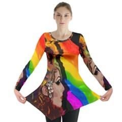 Transvestite Long Sleeve Tunic  by Valentinaart