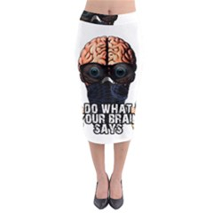 Do What Your Brain Says Midi Pencil Skirt by Valentinaart