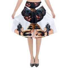 Do What Your Brain Says Flared Midi Skirt by Valentinaart