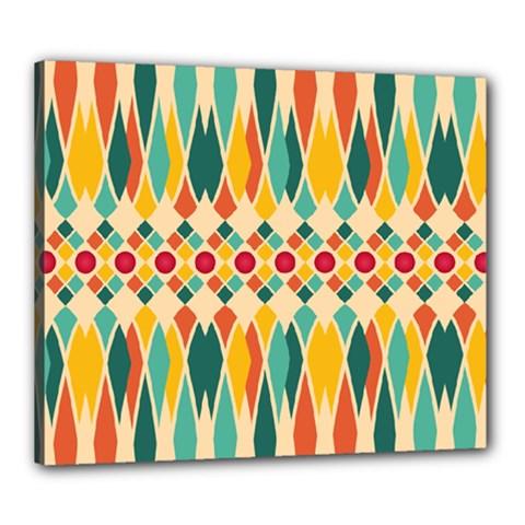 Festive Pattern Canvas 24  X 20  by linceazul