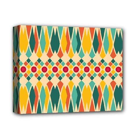 Festive Pattern Deluxe Canvas 14  X 11  by linceazul