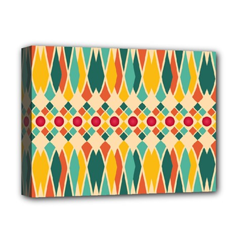 Festive Pattern Deluxe Canvas 16  X 12   by linceazul