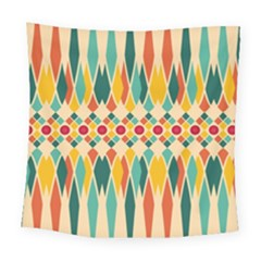 Festive Pattern Square Tapestry (large) by linceazul