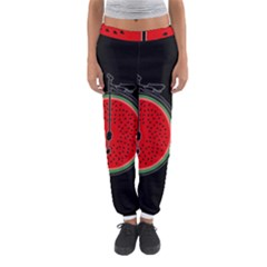 Watermelon Bicycle  Women s Jogger Sweatpants by Valentinaart