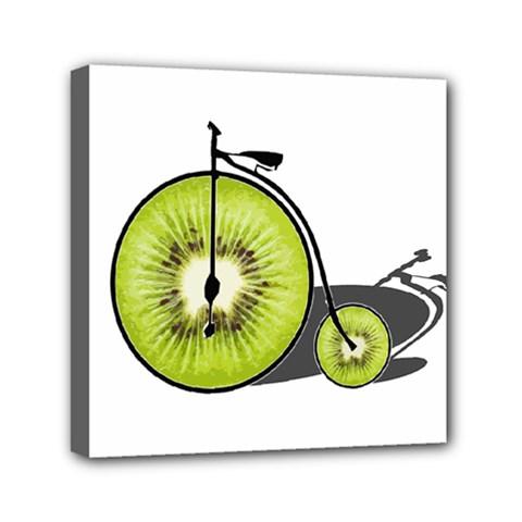 Kiwi Bicycle  Mini Canvas 6  X 6  by Valentinaart