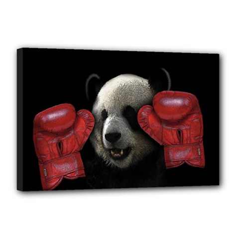 Boxing Panda  Canvas 18  X 12  by Valentinaart