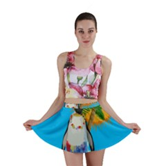 Tropical Penguin Mini Skirt by Valentinaart