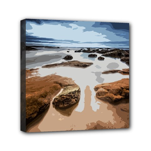 Landscape Mini Canvas 6  X 6  by Valentinaart