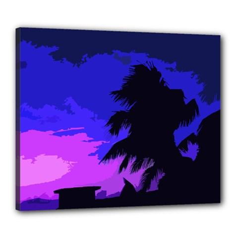 Landscape Canvas 24  X 20  by Valentinaart