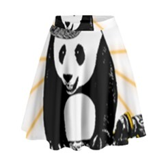 Deejay Panda High Waist Skirt by Valentinaart