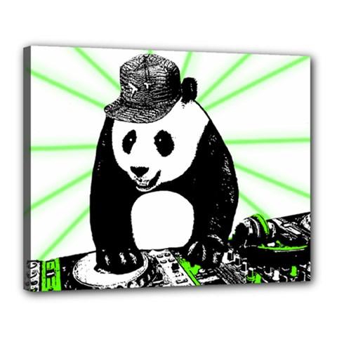 Deejay Panda Canvas 20  X 16  by Valentinaart