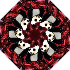 Deejay Panda Straight Umbrellas by Valentinaart