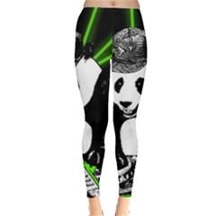 Deejay Panda Leggings  by Valentinaart