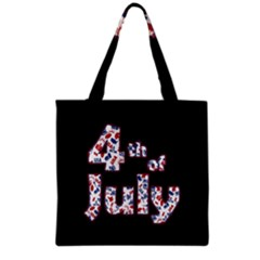 4th Of July Independence Day Grocery Tote Bag by Valentinaart