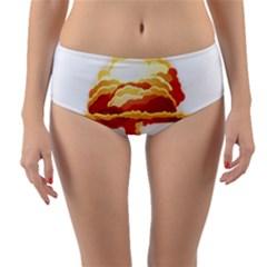 Nuclear Explosion Reversible Mid Waist Bikini Bottoms by Valentinaart