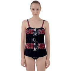 Great Dane Twist Front Tankini Set