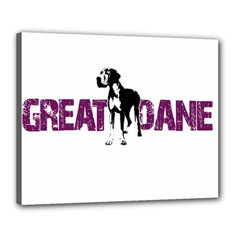 Great Dane Canvas 20  X 16  by Valentinaart