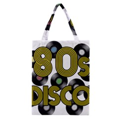 80s Disco Vinyl Records Classic Tote Bag by Valentinaart