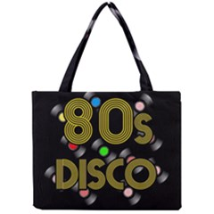 80s Disco Vinyl Records Mini Tote Bag by Valentinaart
