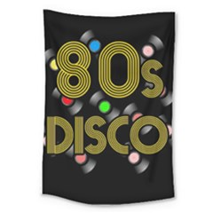 80s Disco Vinyl Records Large Tapestry by Valentinaart