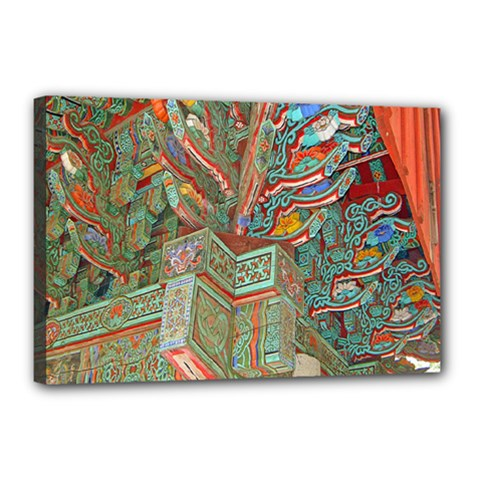 Traditional Korean Painted Paterns Canvas 18  X 12  by Onesevenart