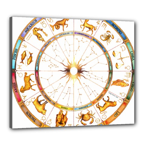 Zodiac  Institute Of Vedic Astrology Canvas 24  X 20  by Onesevenart