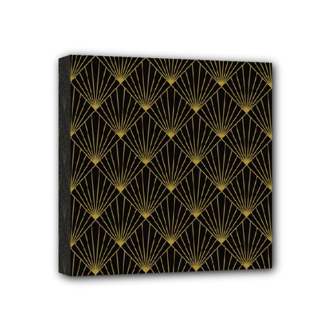 Abstract Stripes Pattern Mini Canvas 4  X 4  by Onesevenart