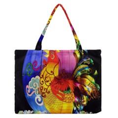 Chinese Zodiac Signs Medium Zipper Tote Bag by Onesevenart