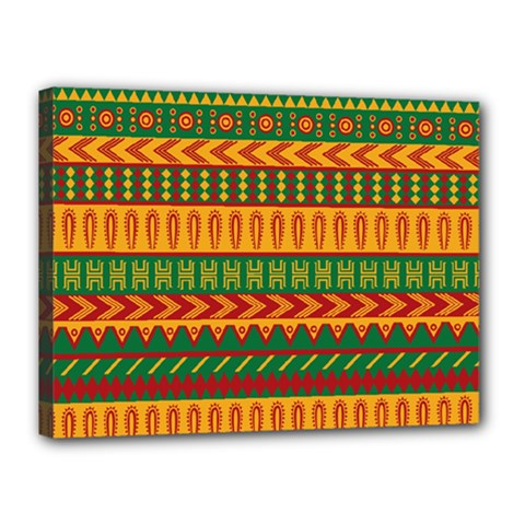 Mexican Pattern Canvas 16  X 12  by Onesevenart