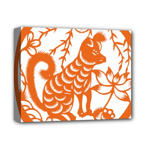 Chinese Zodiac Dog Deluxe Canvas 14  X 11  by Onesevenart