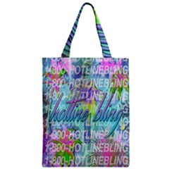 Drake 1 800 Hotline Bling Zipper Classic Tote Bag by Onesevenart
