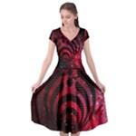Bassnectar Galaxy Nebula Cap Sleeve Wrap Front Dress