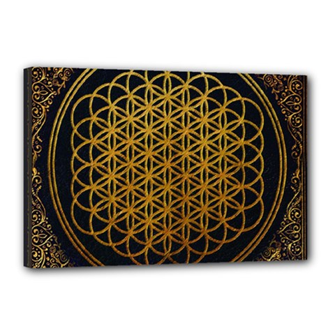 Bring Me The Horizon Cover Album Gold Canvas 18  X 12  by Onesevenart