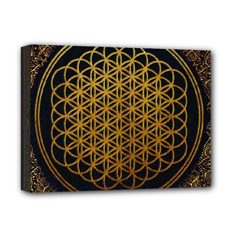 Bring Me The Horizon Cover Album Gold Deluxe Canvas 16  X 12   by Onesevenart