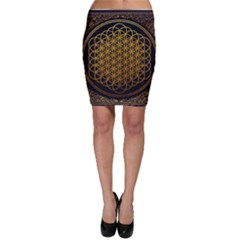 Bring Me The Horizon Cover Album Gold Bodycon Skirt by Onesevenart