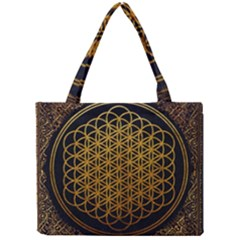 Bring Me The Horizon Cover Album Gold Mini Tote Bag by Onesevenart