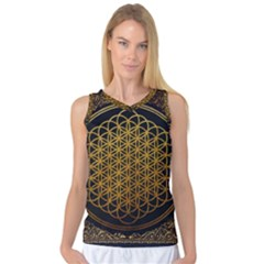 Bring Me The Horizon Cover Album Gold Women s Basketball Tank Top by Onesevenart