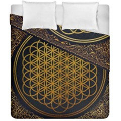 Bring Me The Horizon Cover Album Gold Duvet Cover Double Side (california King Size) by Onesevenart