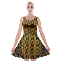 Bring Me The Horizon Cover Album Gold Velvet Skater Dress by Onesevenart